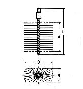 Ketelwisser met uitwendige schroefdraad, staaldraad, rechthoekig – 533.010