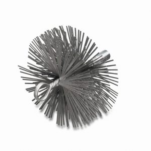 Schoorsteenveegborstel met oog en inwendige schroefdraad