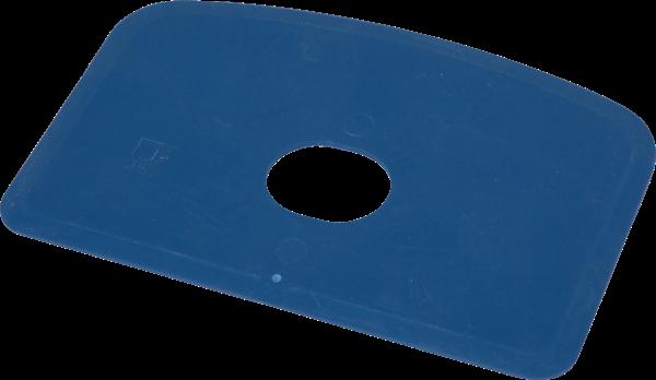 Deegkrabber/schrapk., 146x98x1,65mm, MD, flex.met gat, blauw - HS719102