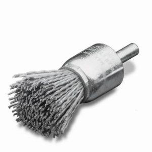 Penseelborstels met stift Ø 6, nylon abrasief